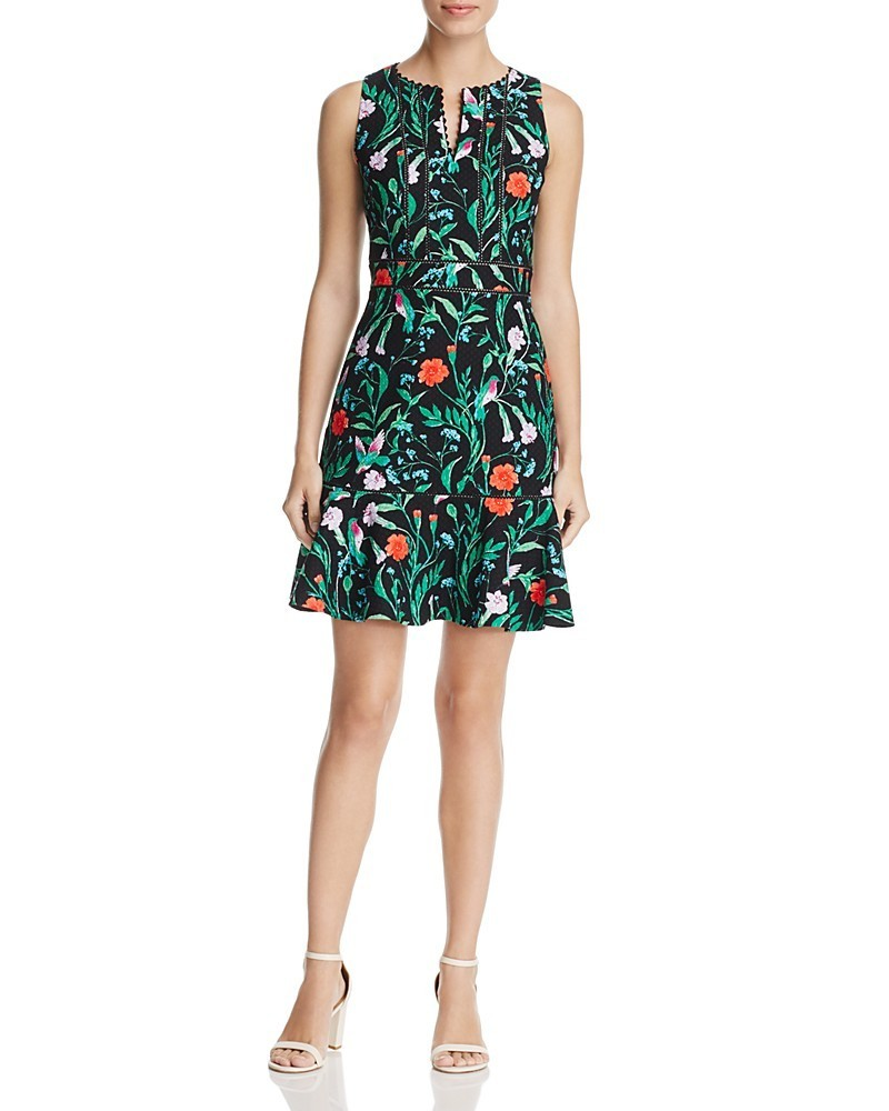 Kate Spade Jardin Floral Jacquard Dress
