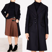 PR633 BRUSHED WOOL SINGLE BREASTED COAT WITH CUT OUT DETAIL
