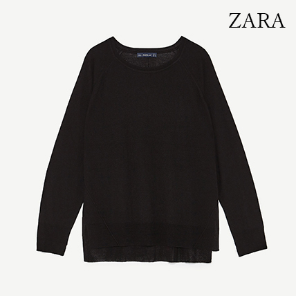 ●ZARA●秋新作♪SWEATER WITH SIDE SLITS