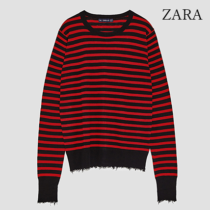 ●ZARA●秋新作♪FRAYED SWEATER
