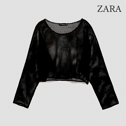 ●ZARA●秋新作♪CROPPED MESH SWEATER