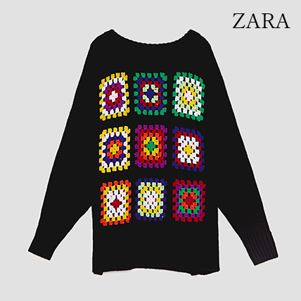 ●ZARA●秋新作♪OVERSIZED CROCHET SWEATER