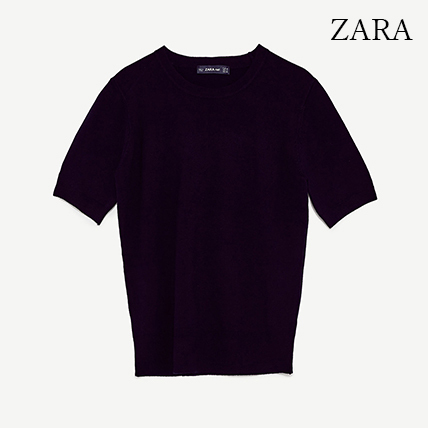 ●ZARA●秋新作♪SHORT SLEEVE SWEATER