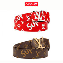 選べる2色★LOUIS VUITTON X SUPREME BELT/ BROWN or RED