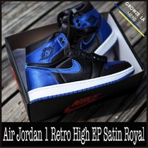 ★【NIKE】US9.5 27.5cm Air Jordan 1 Retro Satin Royal サテン