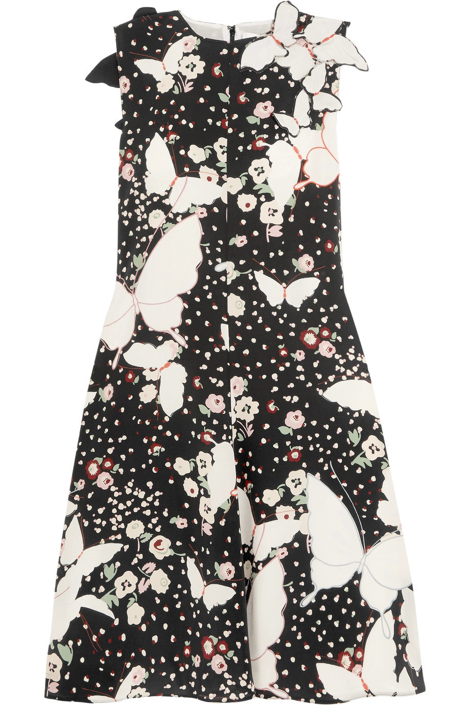 lovely♪◇Butterfly Print ミディ ドレス◇VALENTINO