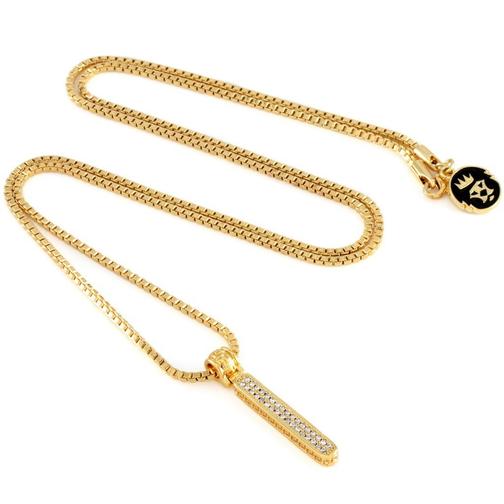 "日本未入荷☆KING ICE☆14K Gold Letter ""I"" Necklace"