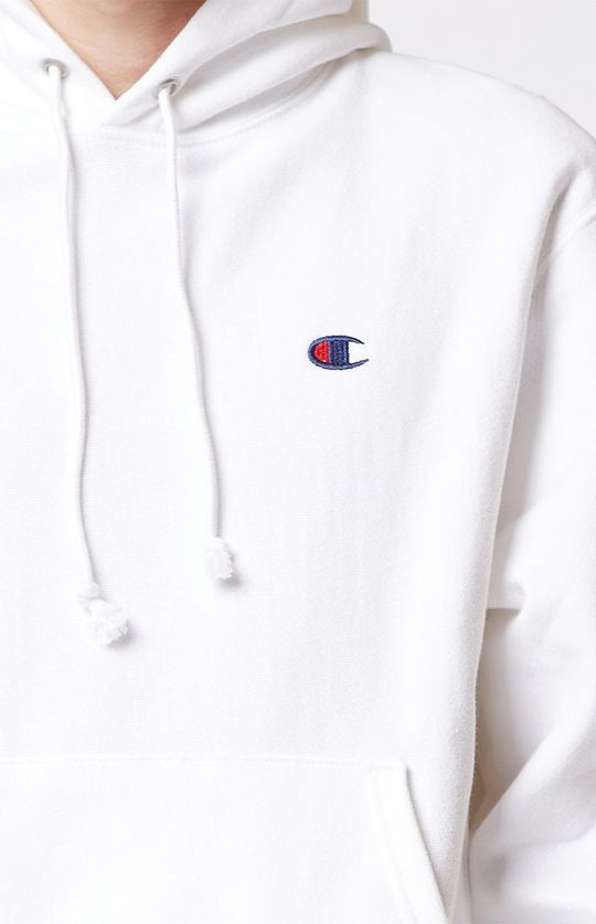 SS17 PACSUN CHAMPION REVERSE WEAVE PULLOVER HOODIE WHITE
