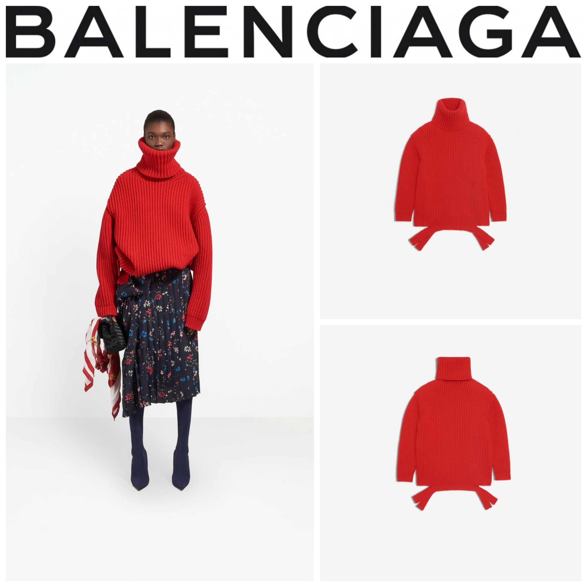 【BALENCIAGA】☆セレブ愛用☆LONG SLEEVES TURTLENECK