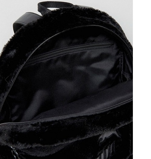 Puma Faux Fur Backpack In Blackリュック★送料込