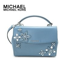 早い者勝ち☆Michael Kors☆ FLOWERS AVA Satchel(2way) DENIM♪