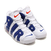 NIKE AIR MORE UPTEMPO GS KNICKS  白x青 国内正規 415082-103