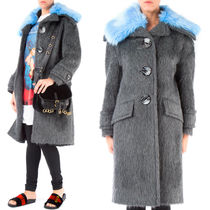 PR664 ALPACA BLEND COAT WITH DETACHABLE COLLAR