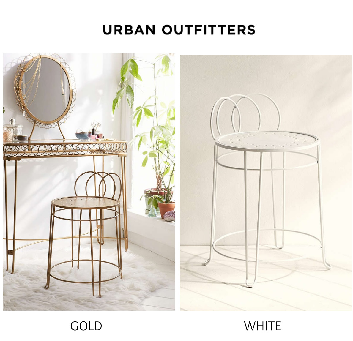 Urban Outfittersメイクアップドレッサー用スツール椅子