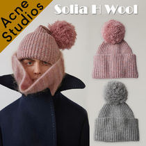 Acne*Solia H Wool ポンポンリブハット