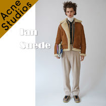 Acne*Ian Suede シアリング アビエイタージャケット