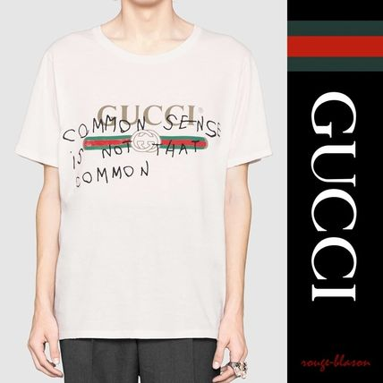 GUCCI Tシャツ・カットソー 【国内発送】GUCCI ロゴTシャツ 白 ココ・キャピタン プリント