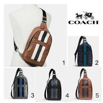 Coach CHARLES PACK IN VARSITY LEATHER F72226
