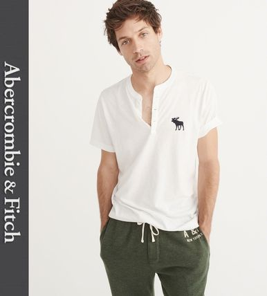 Abercrombie & Fitch Tシャツ・カットソー ★新作★送料込★A&F(アバクロ)★BIG ICON HENLEY★
