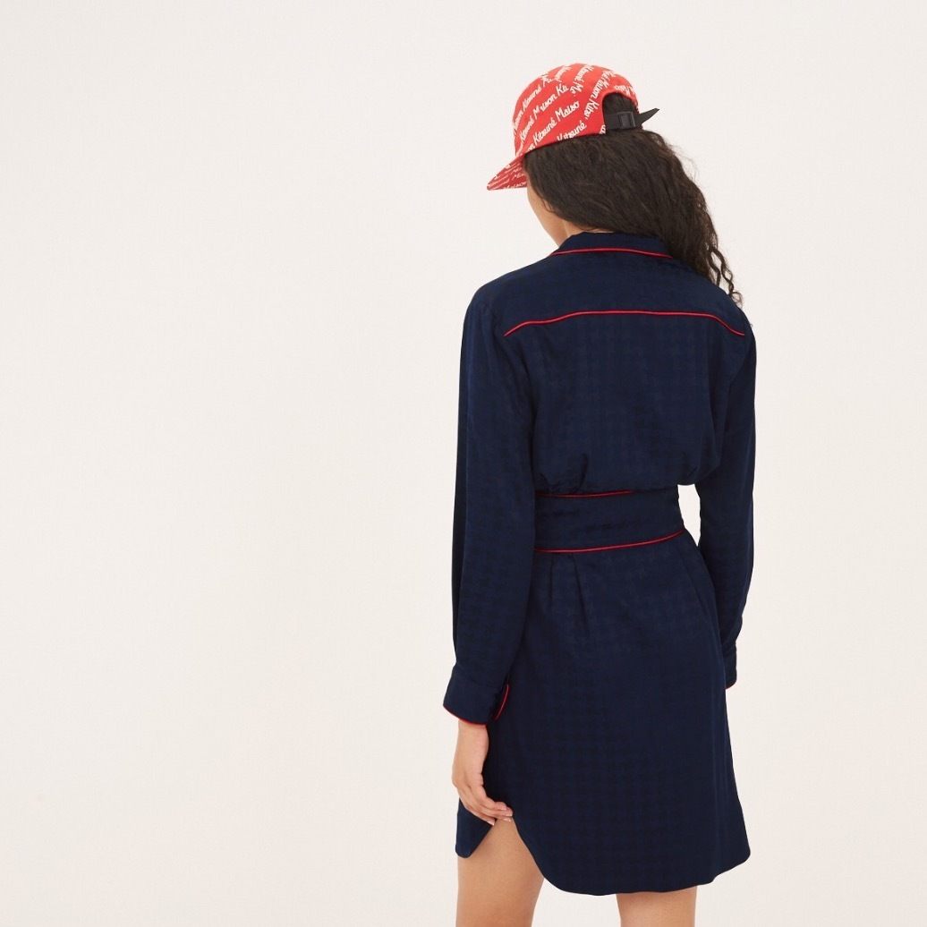 ★MAISON KITSUNE《メゾンキツネ》SATIN BILLIE SHIRT DRESS★