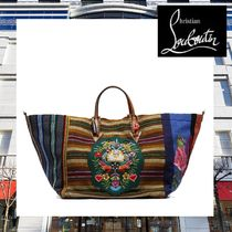 関税送料込【Christian Louboutin】GREEN MEXICABAS TOTE BAG