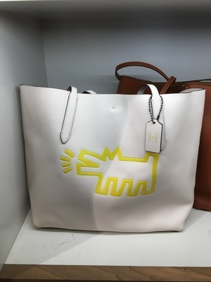 【COACHxKeith Haring】限定☆大容量!A4収納可能 レザートート