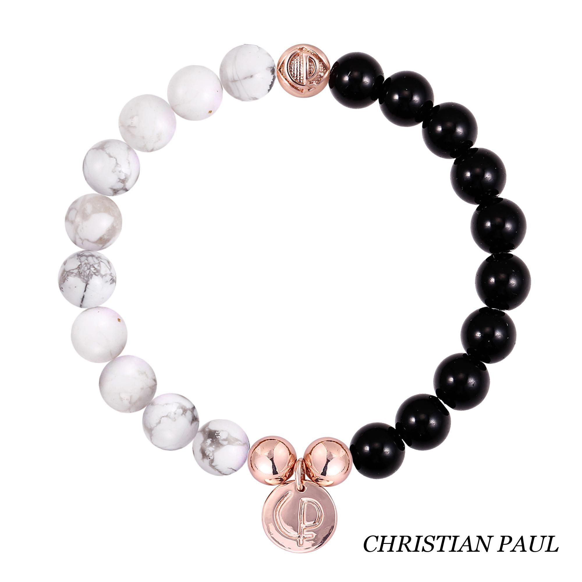 関税送料込☆Christian Paul☆Howlite/Black Onyx/Rose Gold 23