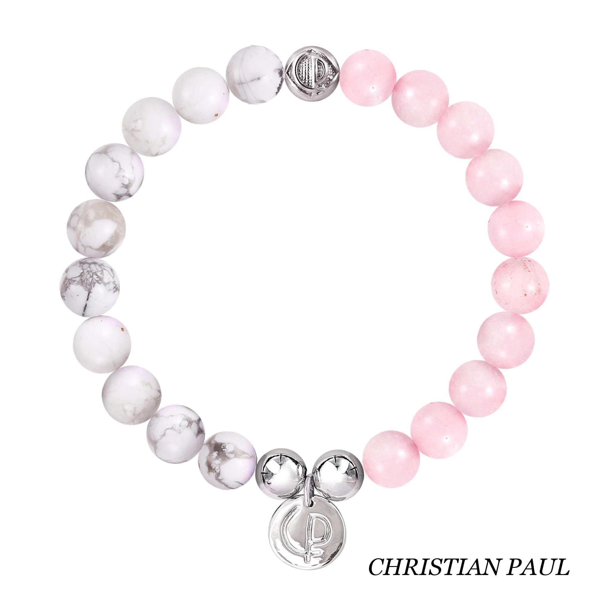 関税送料込☆Christian Paul☆Howlite/Rose Quartz/Silver 23
