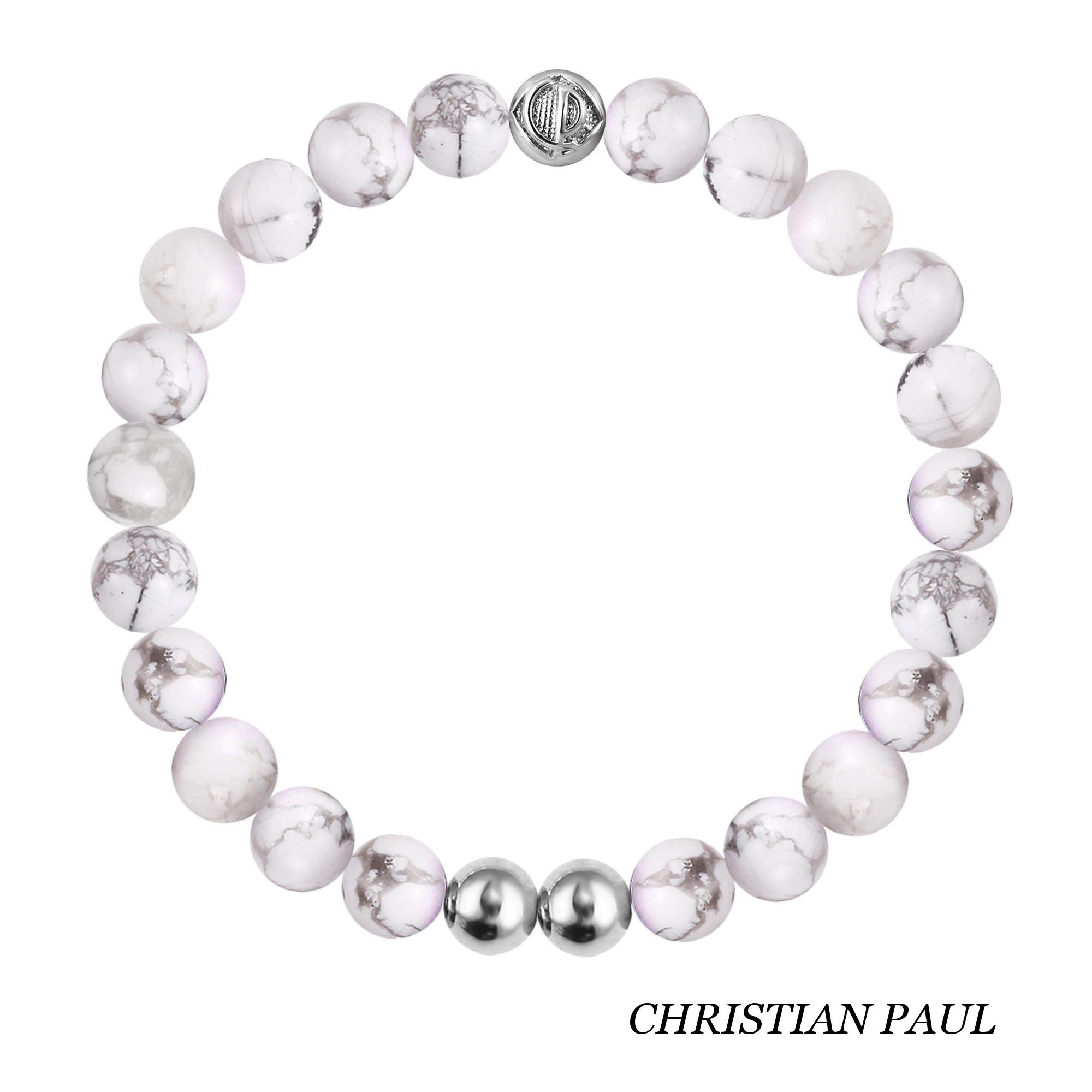 関税送料込☆Christian Paul☆Original Howlite/Silver 25