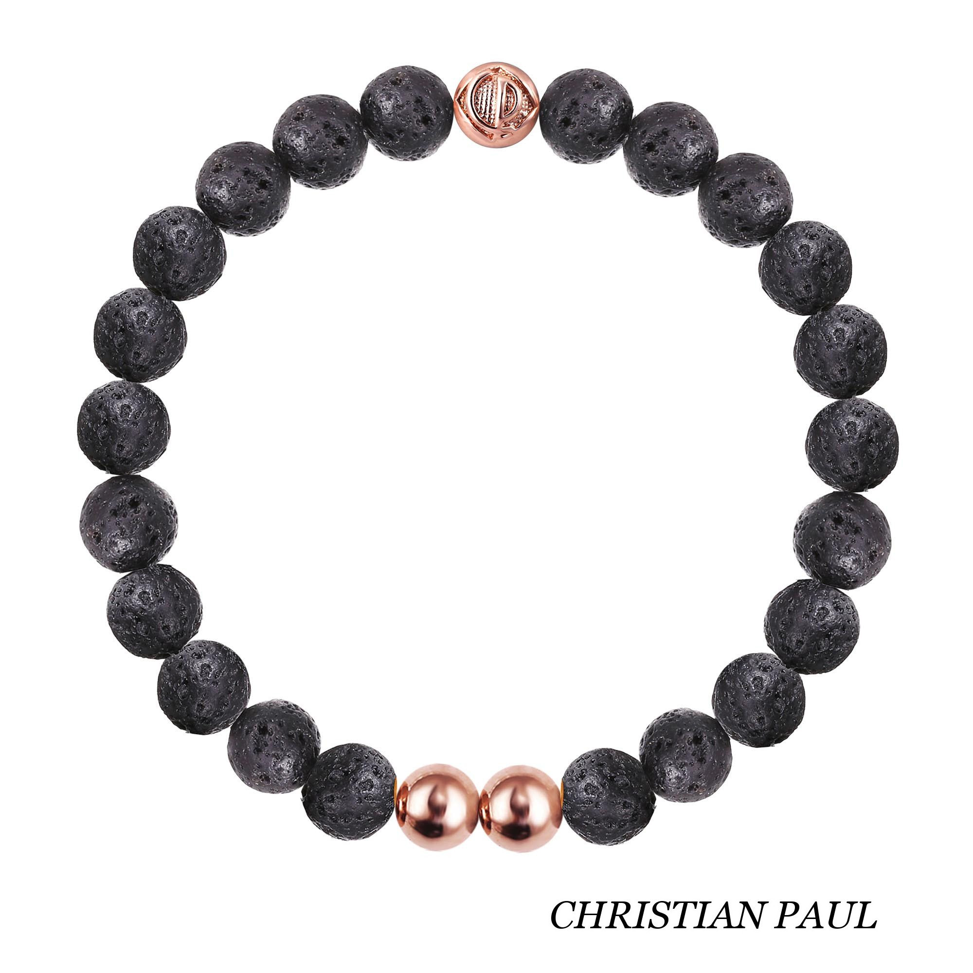 関税送料込☆Christian Paul☆Original Lava Stone/Rose Gold 25