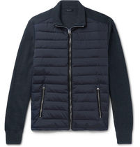 Ribbed Merino Wool & Quilted Shell Down Jkt ダウンジャケット
