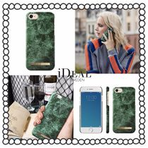 関税/送料込み【iDEAL OF SWEDEN】iPhoneケース GREEN MARBLE