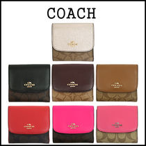 【即発3-5日着】COACH★Signature PVC Small wallet★F87589