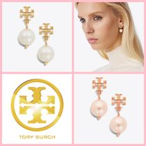 ★Tory Burch Crystal-Pearl Drop Earrings ピアス★送料込