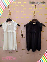 フリルトップス★Kate spade★ruffle yoke silk top★cream