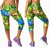 ☆ZUMBA・ズンバ☆Rock Out Cropped Harem Dance Pants LG