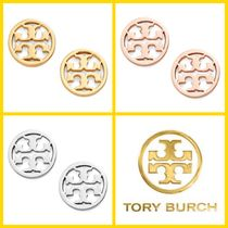 ★Tory Burch Logo-Circle Stud Earrings ピアス★送料込