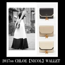 Chloe nicol calf leather wallet☆(クロエ カーフ 革 財布)