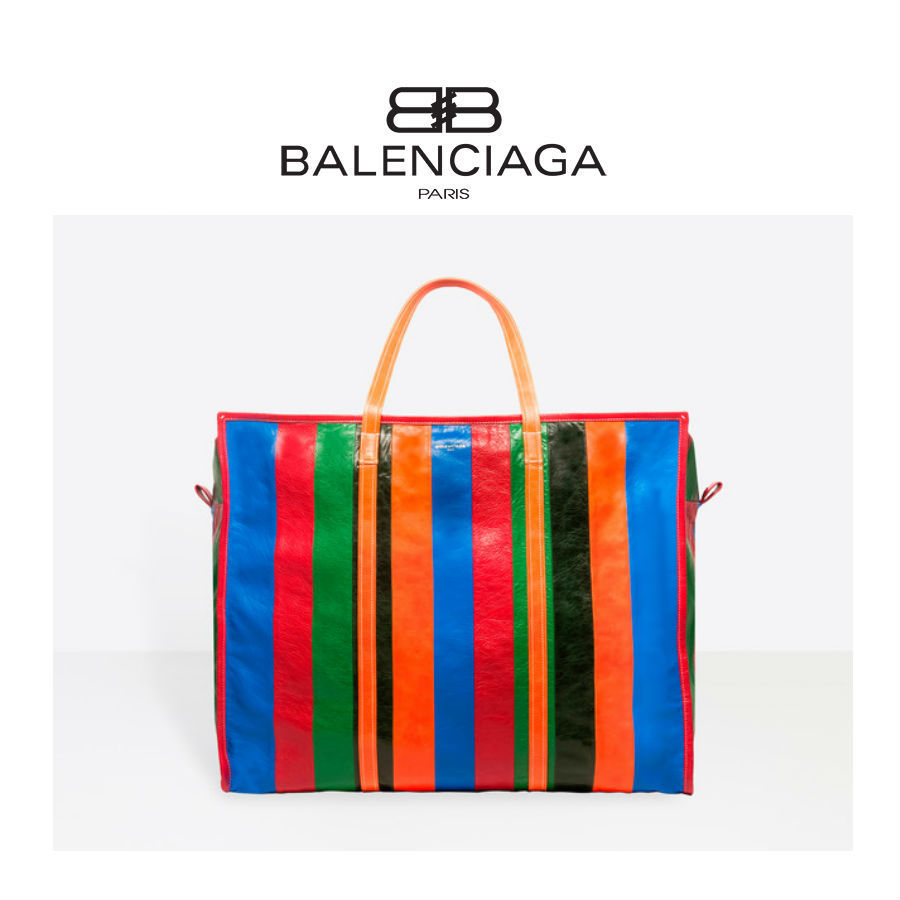 関税込★BALENCIAGA★2017-18★BAZAR SHOPPER XL★ストライプ