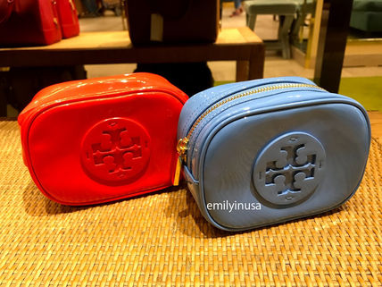Tory Burch ポーチ SALE! TORY BURCH★STACKED PATENT SMALL COSMETIC CASE