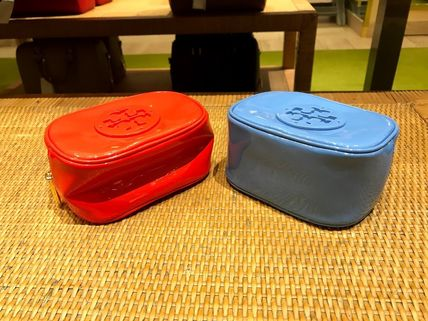 Tory Burch ポーチ SALE! TORY BURCH★STACKED PATENT SMALL COSMETIC CASE(5)