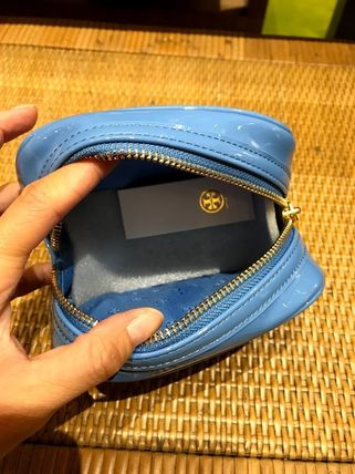 Tory Burch ポーチ SALE! TORY BURCH★STACKED PATENT SMALL COSMETIC CASE(7)