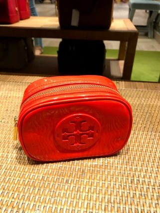 Tory Burch ポーチ SALE! TORY BURCH★STACKED PATENT SMALL COSMETIC CASE(8)