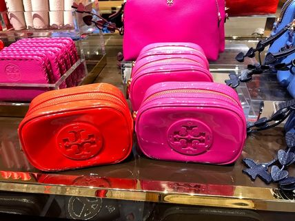 Tory Burch ポーチ SALE! TORY BURCH★STACKED PATENT SMALL COSMETIC CASE(11)