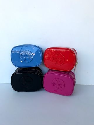 Tory Burch ポーチ SALE! TORY BURCH★STACKED PATENT SMALL COSMETIC CASE(2)