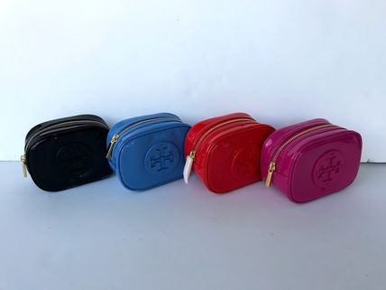 Tory Burch ポーチ SALE! TORY BURCH★STACKED PATENT SMALL COSMETIC CASE(3)