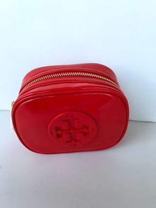 Tory Burch ポーチ SALE! TORY BURCH★STACKED PATENT SMALL COSMETIC CASE(18)