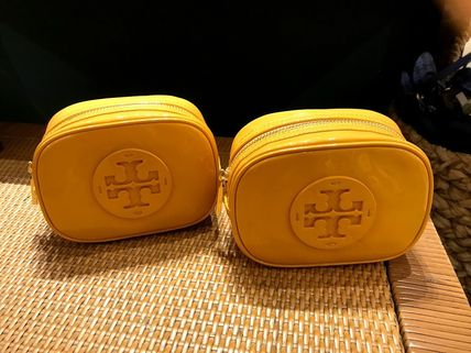 Tory Burch ポーチ SALE! TORY BURCH★STACKED PATENT SMALL COSMETIC CASE(6)