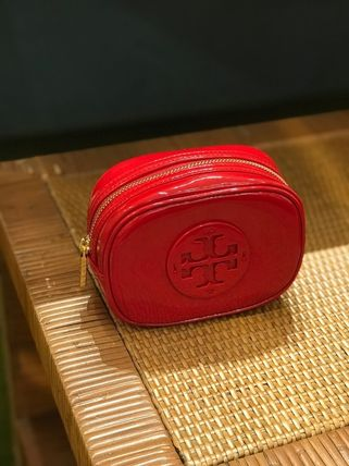 Tory Burch ポーチ SALE! TORY BURCH★STACKED PATENT SMALL COSMETIC CASE(10)