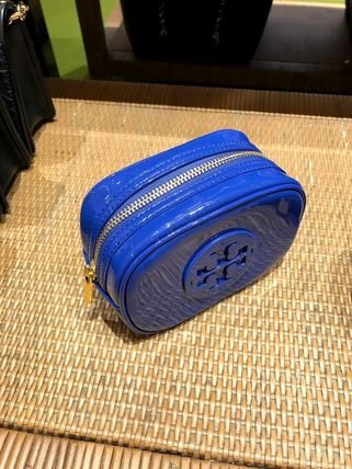 Tory Burch ポーチ SALE! TORY BURCH★STACKED PATENT SMALL COSMETIC CASE(14)